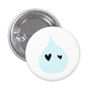 Wasser ist Leben Runder Button 2,5 Cm