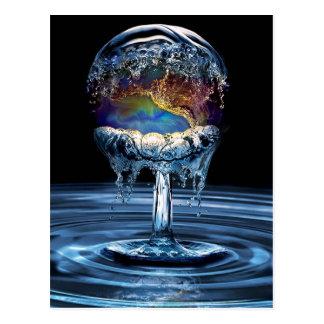 Wasser-Krieg Postkarte