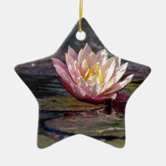 Wasser-Lilie Keramik Ornament