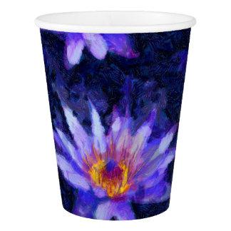 Wasser-Lilie modern Pappbecher