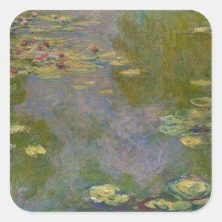 Wasser-Lilien, 1919 Quadratischer Aufkleber