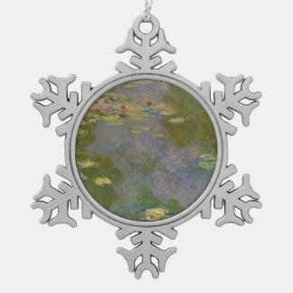 Wasser-Lilien, 1919 Schneeflocken Zinn-Ornament