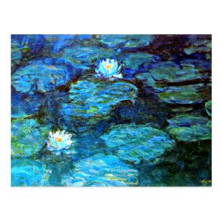 Wasser-Lilien (blau) durch Claude Monet Postkarte