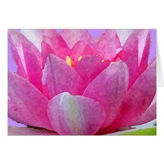 Wasser-Lilien-Blumenblatt-Valentinsgruß Karte