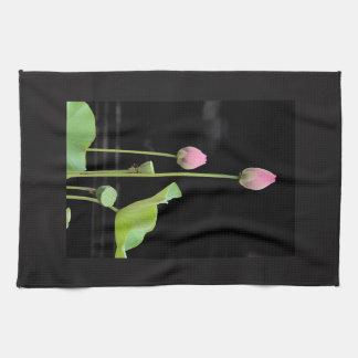 Wasser-Lilien-Blüten-Geschirrtuch Küchentuch
