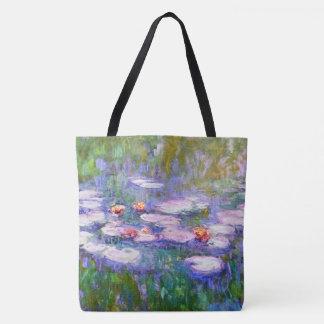 Wasser-Lilien-Claude Monet-schöne Kunst 1919 Tasche