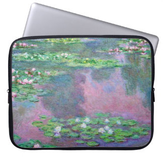 Wasser-Lilien-Claude Monet-schöne Kunst Laptopschutzhülle