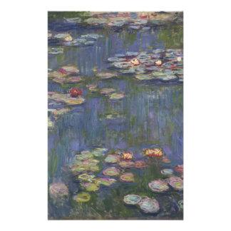 Wasser-Lilien durch Claude Monet Personalisierte Druckpapiere