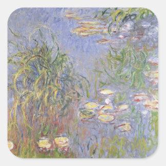 Wasser-Lilien, Gruppe des Grases Quadratischer Aufkleber