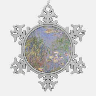 Wasser-Lilien, Gruppe des Grases Schneeflocken Zinn-Ornament