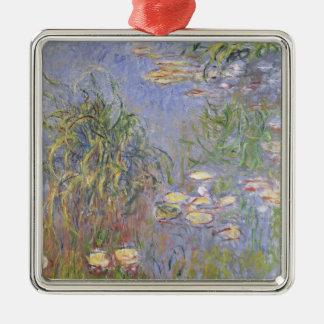Wasser-Lilien, Gruppe des Grases Silbernes Ornament
