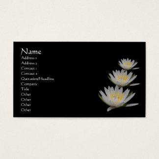 Wasser-Lilien-Lotos-Blumen-Geschäfts-Karte Visitenkarte