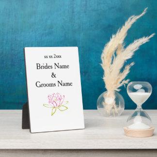 Wasser-Lilien-moderne einfache elegante Fotoplatte