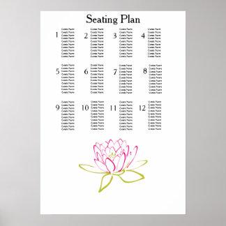Wasser-Lilien-moderne einfache elegante Poster