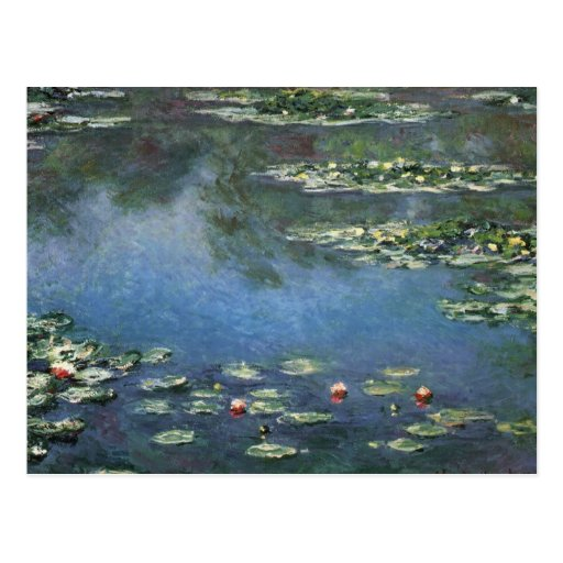 Wasser-Lilien, Monet, Vintage Postkarten