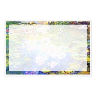 Wasser-Lilien-Teich-Claude Monet-KUNST-MALEREI Büropapiere
