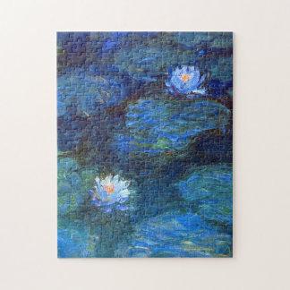 Wasser-Lilien-Teich in blauer Claude Monet-schöner Puzzle