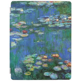 Wasser-Lilien-Teich in blauer Monet schöner Kunst iPad Hülle