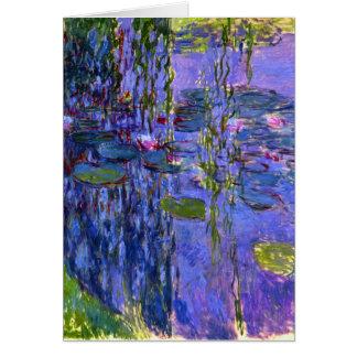 Wasser-Lilien-Teich-Reflexionen Karte