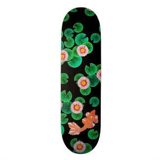 Wasser-Lilien-und Koi Fisch-Skate-Brett 21,6 Cm Skateboard Deck