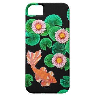 Wasser-Lilien-und Koi Fisch-Telefon-Kasten iPhone 5 Etui