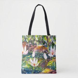 Wasser Lilly Teich Watercolor-Taschentasche Tasche