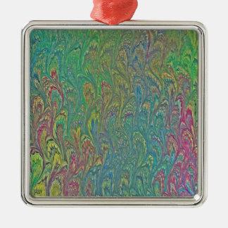 Wasser-Marmorn - tropische Frosch-Füße Silbernes Ornament
