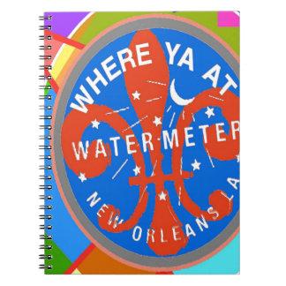 Wasser-Meter abstraktes New Orleans Spiral Notizblock