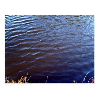 Wasser-Oberflächenbeschaffenheit Postkarte