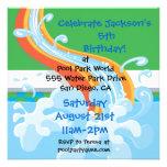 Wasser-Park-Pool-Party Einladung