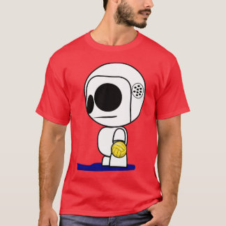 Wasser-Polo-Spieler-Cartoon-Typ T-Shirt