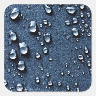 Wasser Quadratischer Aufkleber
