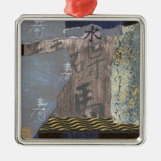 Wasser Quadratisches Silberfarbenes Ornament