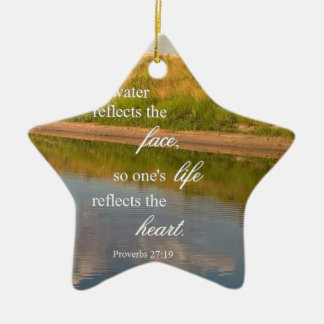 Wasser-Reflexion Keramik Ornament