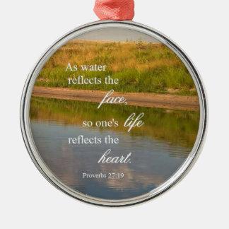 Wasser-Reflexion Silbernes Ornament