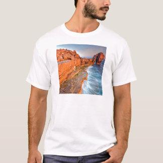Wasser-rotes Felsen-Riff T-Shirt