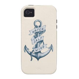 Wasser-Salz-und Wind-Anker-Tätowierung Vibe iPhone 4 Hülle