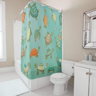 Wasser-Schildkröte-Duschvorhang Duschvorhang