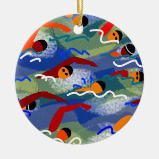 Wasser-Schwimmen-Verzierung Keramik Ornament