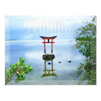 Wasser-Skulptur in den Florida-Schlüsseln Postkarte