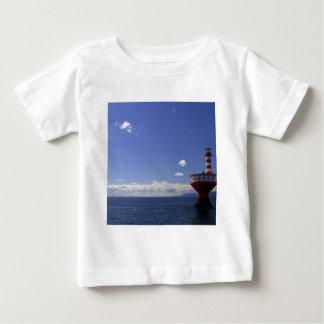 Wasser-spezieller Leuchtturm-Tagesrotes Weiß Baby T-shirt
