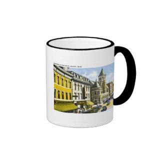 Wasser-Straße und Post, Augusta, Maine Ringer Tasse
