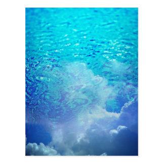 Wasser u. Wolken Postkarte