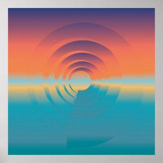 Wasser und Horizont Poster