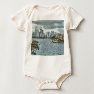 Wasser und Skyline Baby Strampler