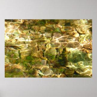 Wasser vom abstrakten Natur-Foto Hot Springs Poster