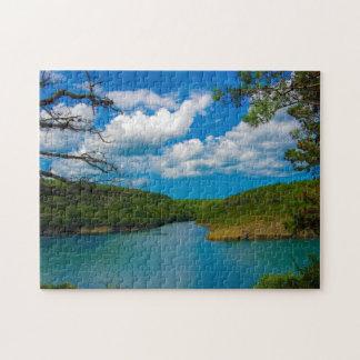 Wasser-Weisen-Landschaft Puzzle
