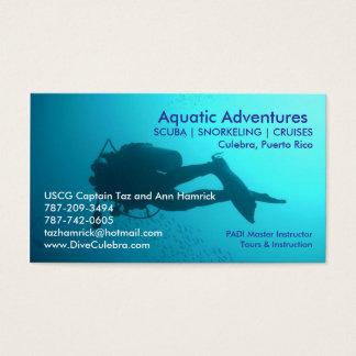 Wasserabenteuer-Visitenkarte Visitenkarte