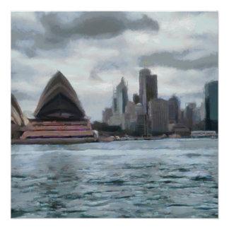 Wasseransicht von Sydney Poster