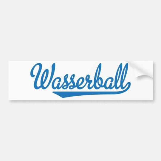 Wasserball Autoaufkleber